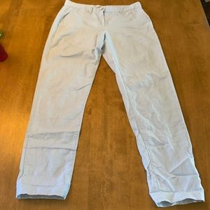 Pale blue linen pants